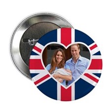 """Royal Baby - William Kate 2.25"""" Button"""