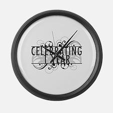 Celebrating 1 Year Large Wall Clock