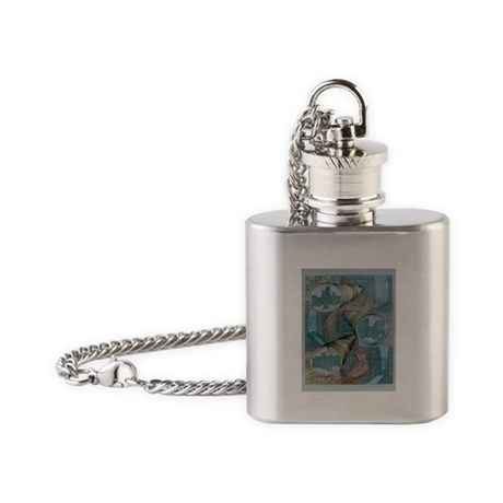 rising castles Flask Necklace