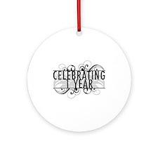 Celebrating 1 Year Ornament (Round)