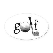 Golf Oval Car Magnet