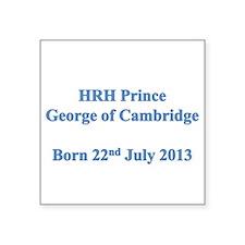 HRH Prince of Cambridge Sticker