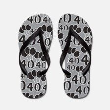 40th Birthday Gag Gift Flip Flops