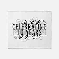 Celebrating 10 Years Throw Blanket