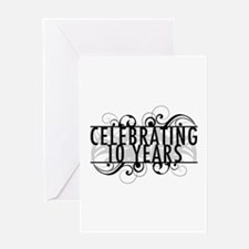 Celebrating 10 Years Greeting Card