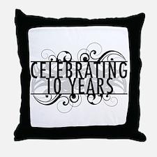Celebrating 10 Years Throw Pillow