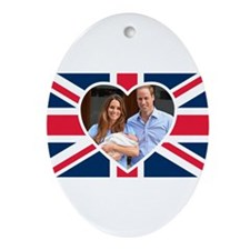 Royal Baby - William Kate Ornament (Oval)