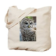 Barred Owl: Who are you??? Tote Bag