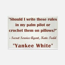 YANKEE WHITE Rectangle Magnet