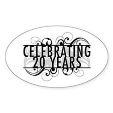 Celebrating 20 Years Decal