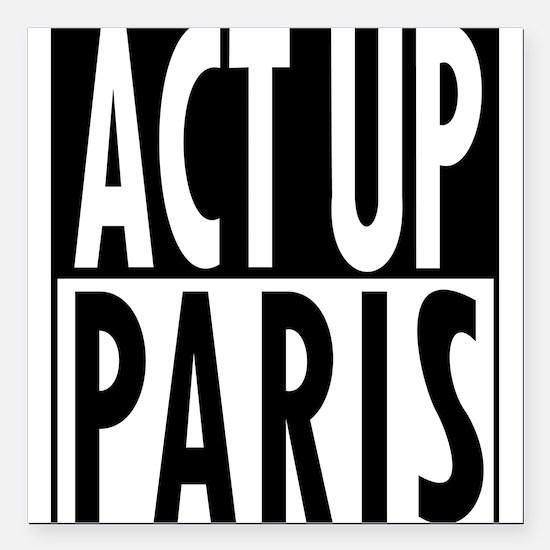 "Act Up-Paris Square Car Magnet 3"" x 3"""