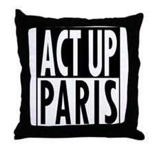 Act Up-Paris Throw Pillow