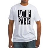 Act up fight aids Fitted Light T-Shirts