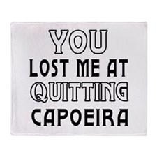 Capoeira Martial Arts Designs Throw Blanket