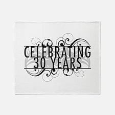 Celebrating 30 Years Throw Blanket