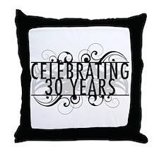 Celebrating 30 Years Throw Pillow