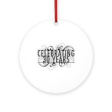 Celebrating 30 Years Ornament (Round)