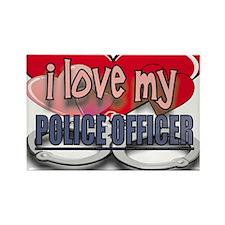 I LOVE MY POLICE OFFICER Rectangle Magnet