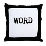 WORD Throw Pillow