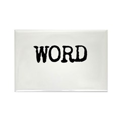 WORD Rectangle Magnet