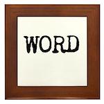 WORD Framed Tile