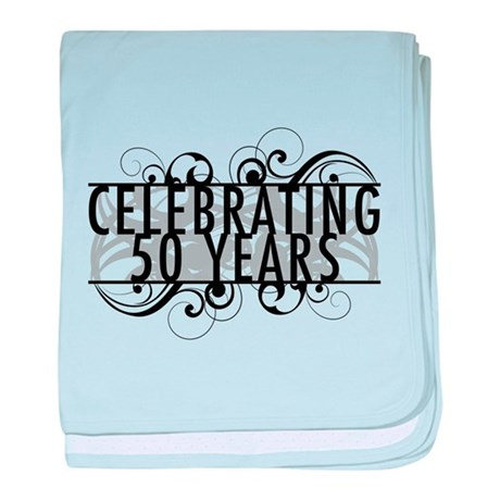 Celebrating 50 Years baby blanket