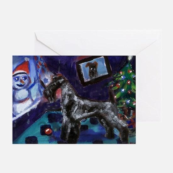 KERRY BLUE xmas Greeting Cards (Pk of 10)