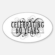 Celebrating 60 Years Sticker (Oval)