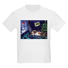BRITTANY SPANIEL Christmas Kids T-Shirt