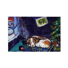 BRITTANY SPANIEL Christmas Rectangle Magnet