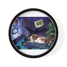 BRITTANY SPANIEL Christmas Wall Clock