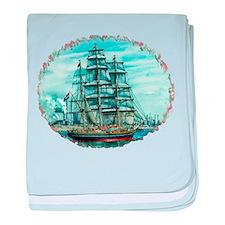 Sailing Ship baby blanket