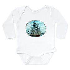 Sailing Ship Long Sleeve Infant Bodysuit