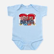 I LOVE MY POLICE OFFICER Infant Bodysuit