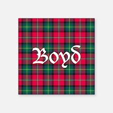 "Tartan - Boyd Square Sticker 3"" x 3"""