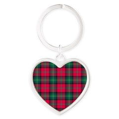 Tartan - Boyd Heart Keychain