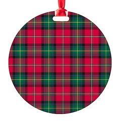 Tartan - Boyd Round Ornament