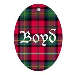 Tartan - Boyd Ornament (Oval)