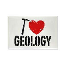 I Love Geology Rectangle Magnet