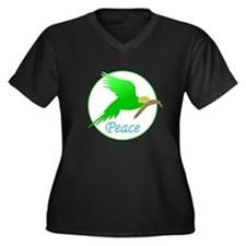 Parakeet Peace Plus Size T-Shirt
