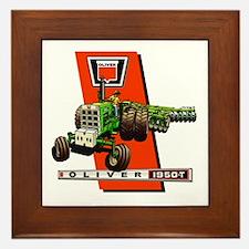 Oliver 1950-T Tractor Framed Tile