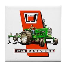 Oliver 1750 Tractor Tile Coaster