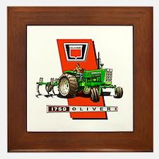 Oliver 1750 Tractor Framed Tile