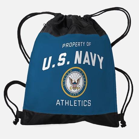 Property of U.S. Navy Athletics Drawstring Bag Drawstring Bag