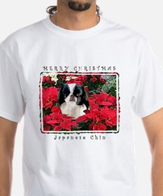 Japanese Chin Christmas Poinsettia Shirt