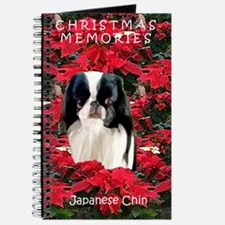 Japanese Chin Christmas Poinsettia Journal