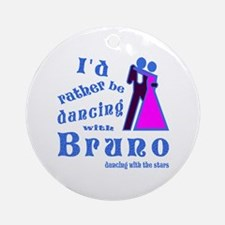Dancing With Bruno Ornament (Round)