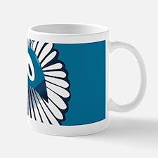 Blue Peacock Small Mug