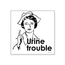 Urine Trouble ~ Rectangle Sticker