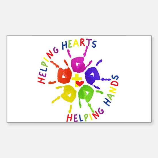 Helping Hearts Helping Hands Logo Decal